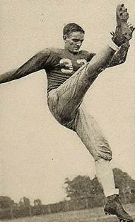 Football star Dave Griffith, during his year at Muhlenberg College, 1943-1944.