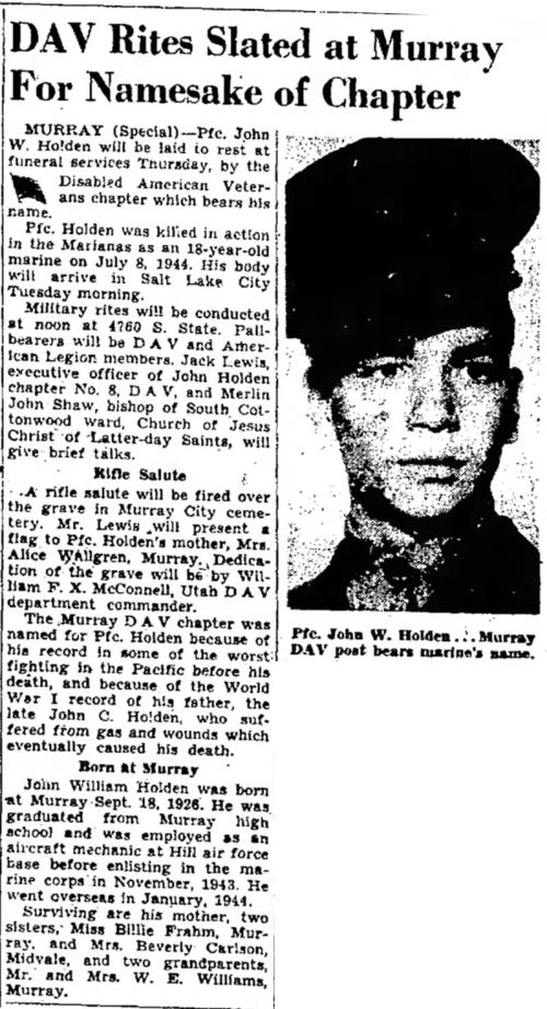 The Salt Lake City Tribune, 27 November 1950.