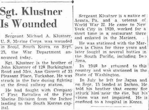 The Herald-Statesman (Yonkers NY)  17 October, 1950.