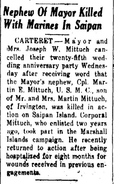 Carteret Press, 7 July 1944.