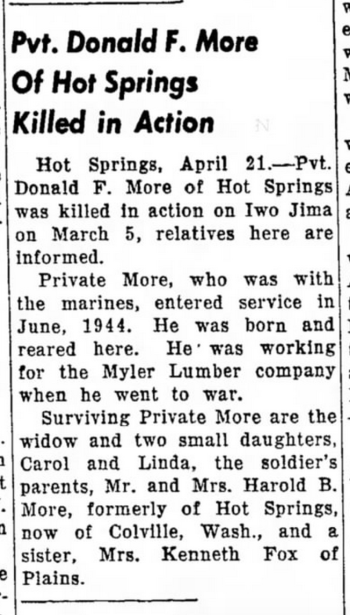 The Independent Record (Helena, MT) 22 April 1945.