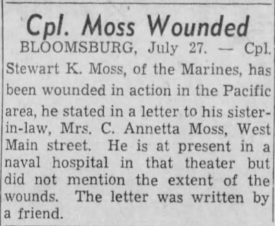 The Evening News (Harrisburg, PA) 27 July, 1944.
