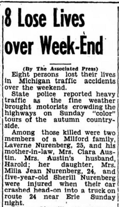 The Ludington Daily News, 13 October  1947.