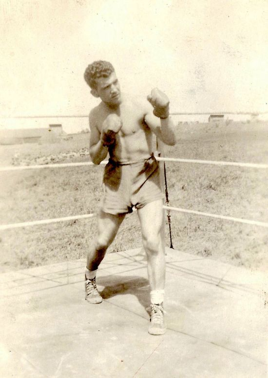 Lou Naccarato in the boxing ring. He was one of the Division champions. Photo courtesy of Brad Logan.