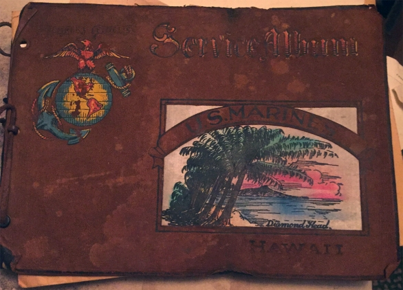 This scrapbook was probably one of Pvt. Jordan's first purchases when he arrived in Hawaii.