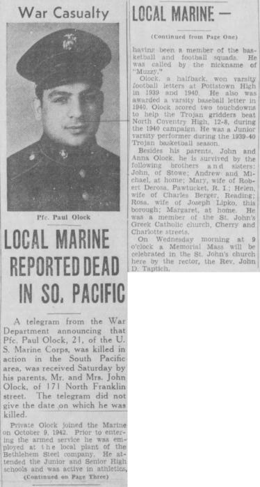 Pottstown Mercury, 14 February 1944.