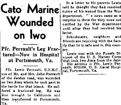 The Fair Haven Register, 12 April 1945.