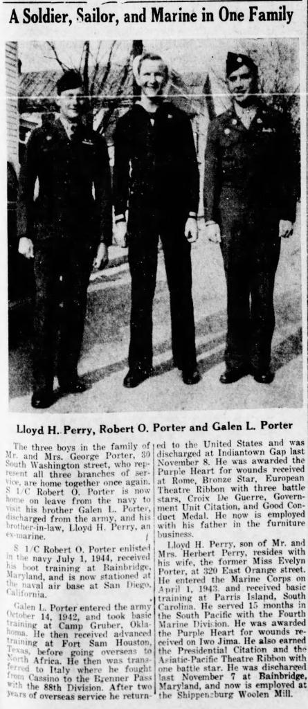 The News-Chronicle (Shippensburg, PA), 30 April 1946.