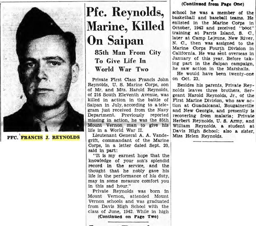 The Daily Argus, 27 September 1944.