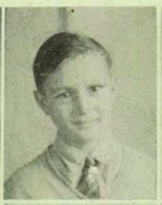 A young Joey Chalifour. Photo from the Caribou High School yearbook for 1944.