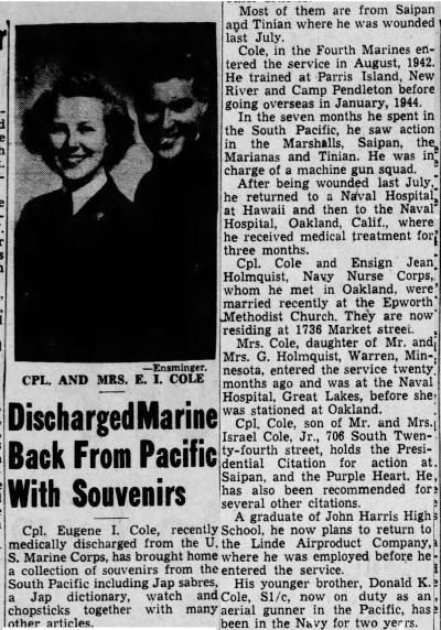 Harrisburg Telegraph, 17 April 1945