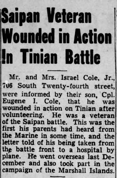 Harrisburg Telegraph, 22 August 1944