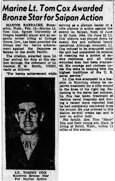 The Eugene Register - Guard, 11 February 1945.