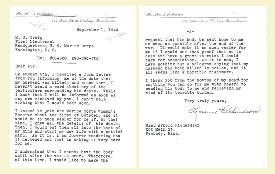 a_richardson wife letter
