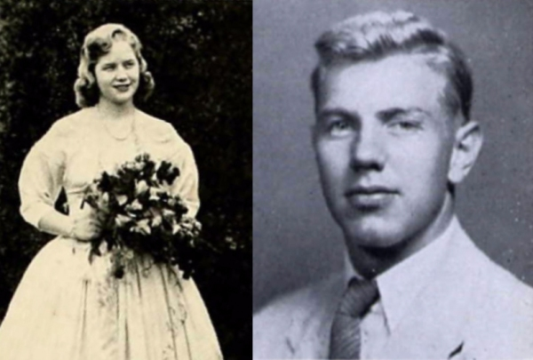 College sweethearts Thirza Trant (Sweet Briar) and Allen Campbell (UVA).