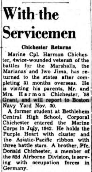 The Albany Knickerbocker News, 1 November 1945.