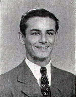 Everett Eckert as a senior at Madeira High School, shortly before enlisting.