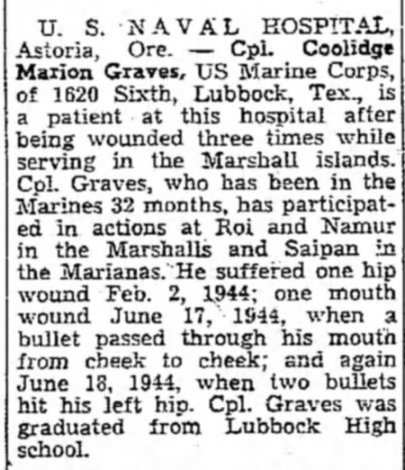 Lubbock Avalanche-Journal, 24 June 1945.