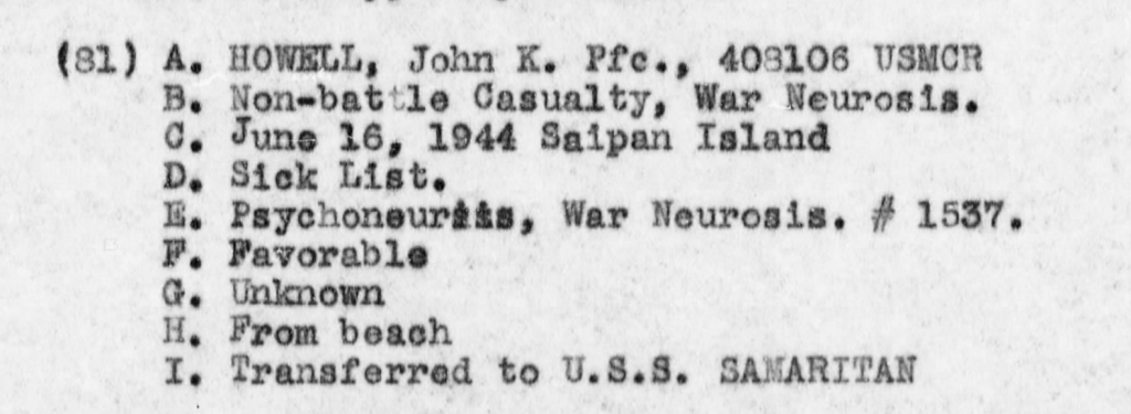 USS Sumter, report of operations off Saipan, June 1944.