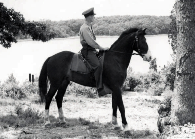 Harlan Jeffery on patrol at Naval Ammunition Depot, Hingham, MA in 1940. Photo appeared in the July, 2009 Leatherneck magazine.
