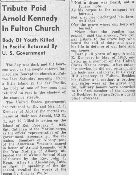 The Observer (Rockford, IL) 2 November 1947.