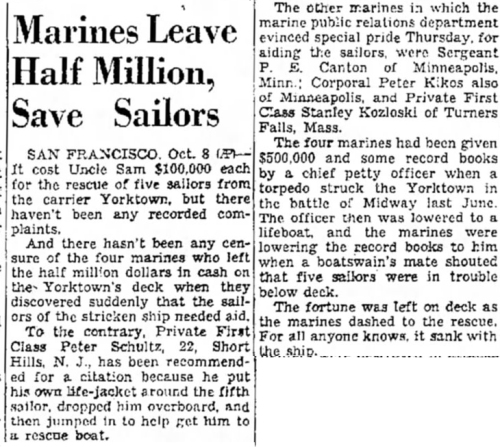 The Salt Lake Tribune, 9 October 1942.
