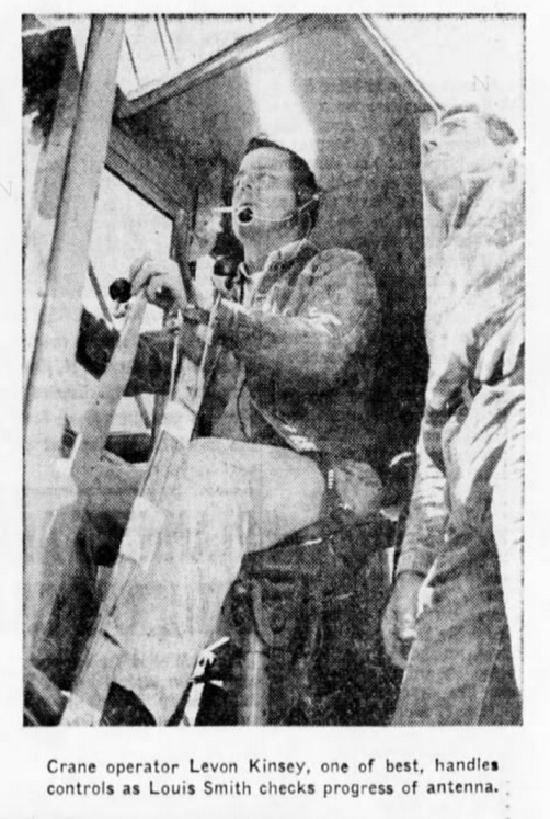 Kinsey worked for Pacific Telephone & Telegraph in California after the war. This picture appeared in a 17 June 1959 spread in the San Bernadino County Sun.