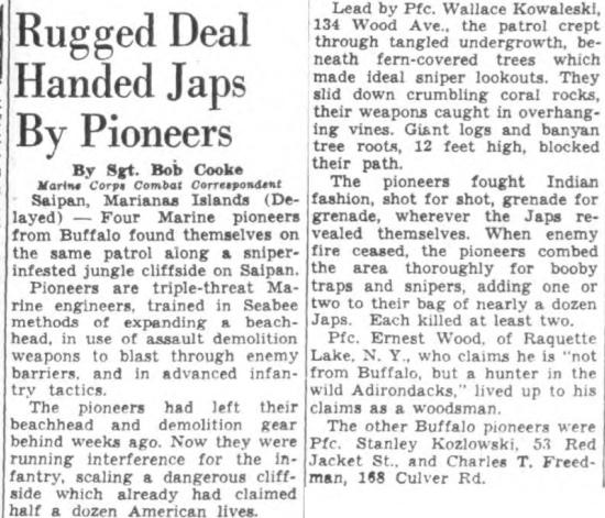 Buffalo Courier-Express, 7 August 1944.