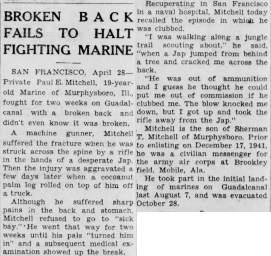 The Circleville (Ohio) Herald, 28 April 1943.