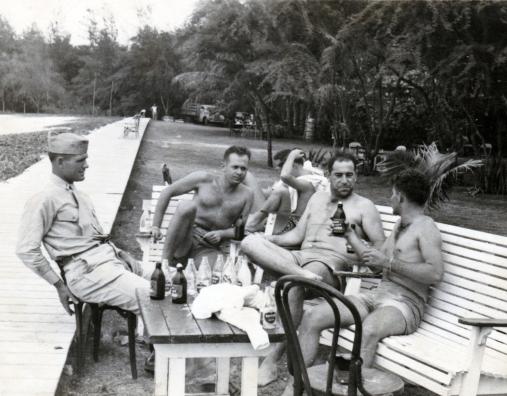 """Webber, Lewis, Me, Durrett. 20 July 1945"""