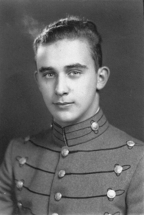 A young Byron Marsh in his first uniform–a cadet at Fishburne Military Institute. Photo from Ancestry.com.