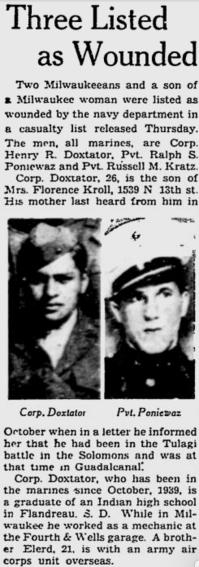 The Milwaukee Journal, 12 November 1942.