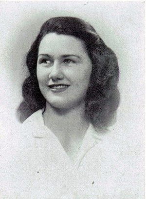 "Virginia Lee ""Jini"" Broome, future wife of Lt. Hulvey. Her brother, Roger G. B. Broome, served with the 24th Marines and died of wounds received on Saipan."