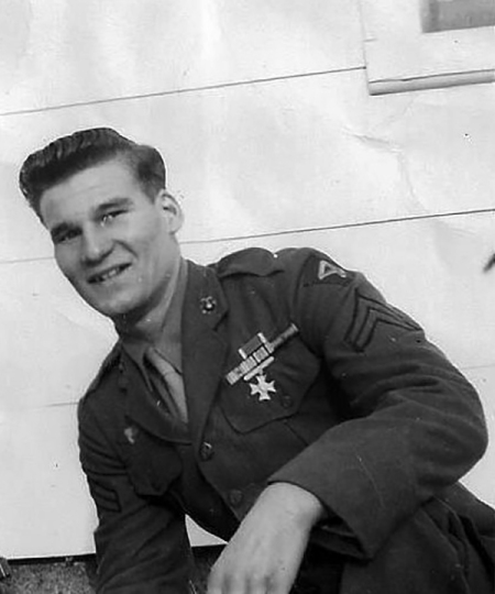 Corporal Johnstone after his discharge in 1945. Photo from Ancestry.com