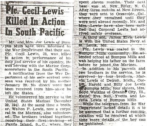 Stewart Houston Times, 17 February 1944.