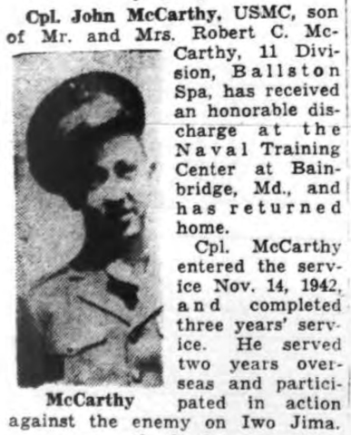 The Saratogian, 19 November 1945.