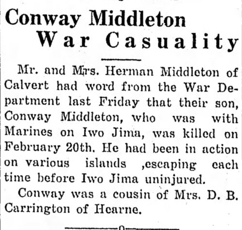 The Hearne (Texas) Democrat, 6 April 1945.