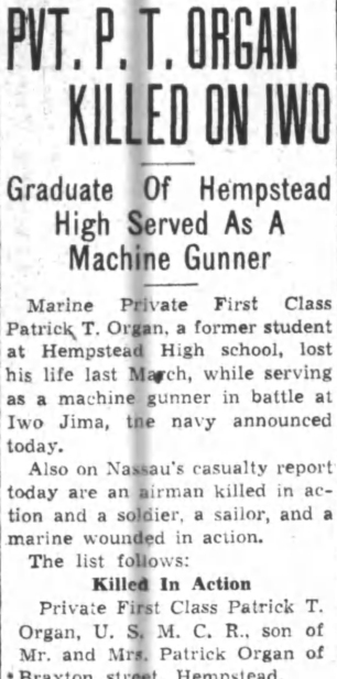 Nassau Daily Review-Star, 15 June 1945.