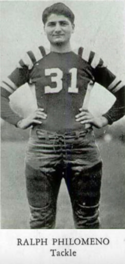 On the Niles McKinley High School football team, 1940.
