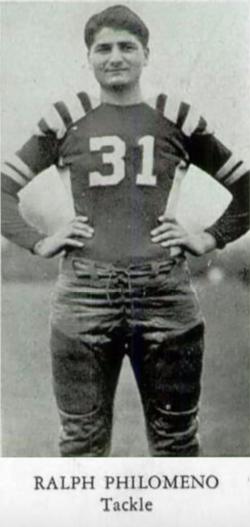 On the Niles McKinley High School football team, 1940.