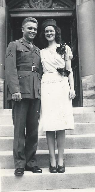 Corporal Roquet with his future wife, Virginia. Photo from Ancestry.com