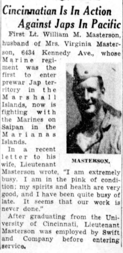 Cincinnati Enquirer, 7 July 1944.