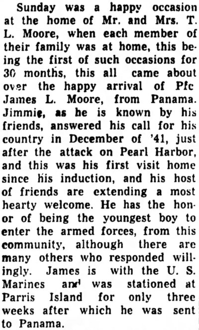 The Statesville Daily Record, 22 May 1944.