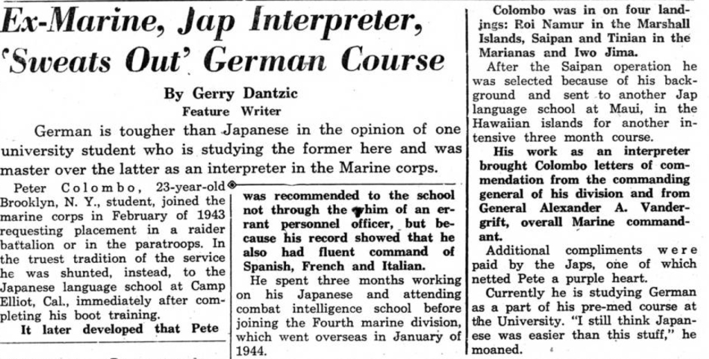 The Kent Stater, 12 February 1947.