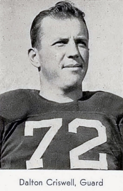 On the football team at North Texas State Teacher's College, 1943.