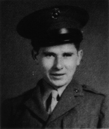 "Earl Hawkins, around 1943. Initially angered that he was ""one of the first in and among the last out of the battalion without being in combat,"" he later concluded ""it was God's blessing that [I] did not have to kill or be killed."""
