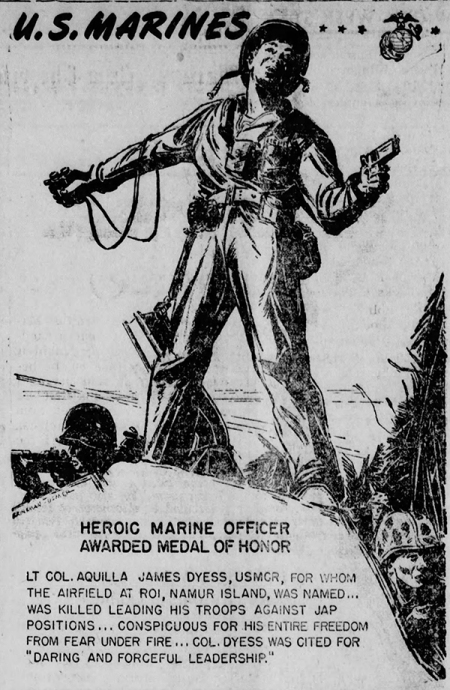 A newspaper artist's impression of Big Red's final moments appeared in the Sikeston (MO) Standard, 22 December 1944.