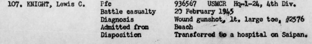 War Diary, USS Hendry, February 1945.