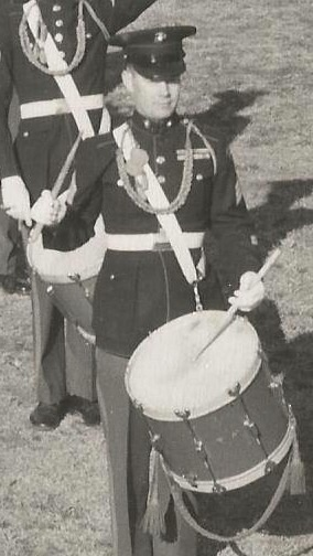 Sergeant Pfieifer performs with the elite Drum & Bugle Corps at 8th & Eye, circa 1947. Photo from FindAGrave.com