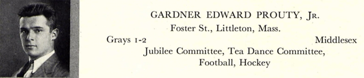 Gardner Prouty in the Harvard yearbook, 1936.